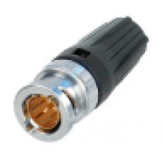 Neutrik NBNC75BFG7 wtyk BNC zaciskany na kabel 06/2,8 do 6 mm , 75 Ω ,HDTV / DVD